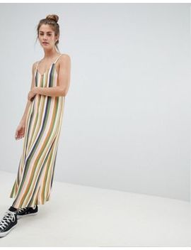 Pull&Bear – Bunt Gestreiftes Camisole Kleid by Pull&Bear
