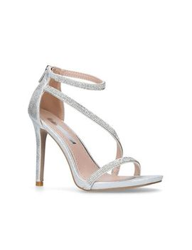 Miss Kg   Silver 'dutchess' High Heel Sandals by Miss Kg