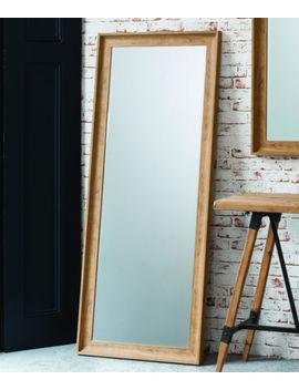 """Fraser Leaner Full Length Floor Mirror Wall Hung Oak Effect 60""""X25"""" 152 X 63cm by Ebay Seller"""