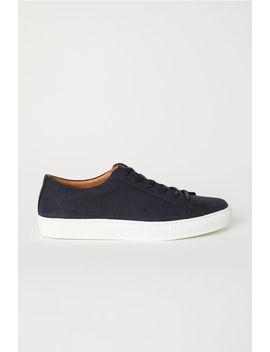 Sneakers I Bomull Och Läder by H&M