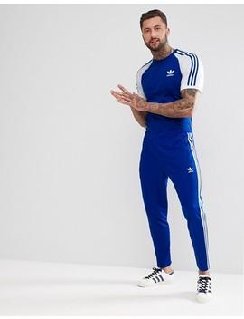 Adidas Originals Adicolor Raglan California T Shirt In Blue Cw1205 by Adidas Originals