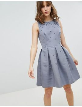Ted Baker Tie The Knot Pearl Embellished Skater Bridesmaid Dress by Ted Baker