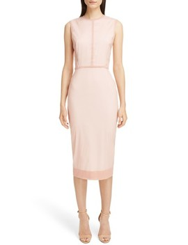 Stretch Silk Organza Sheath Dress by Victoria Beckham