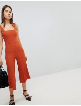 New Look Square Neck Rib Culotte Jumpsuit by New Look