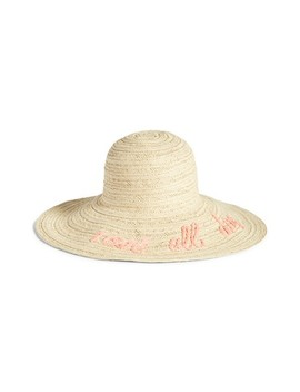 Wordplay Floppy Straw Sun Hat by Nordstrom