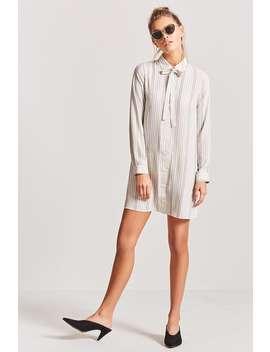 Chiffon Shirt Dress by Forever 21