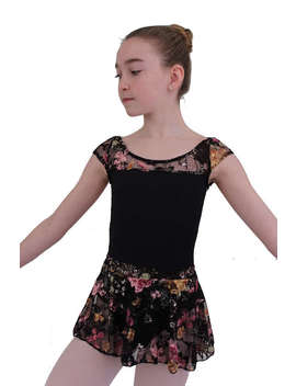 Princess Leotard And Repertoire Skirt   Black With Gold Lace  Limited Edition by Etsy