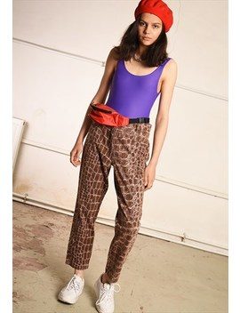 Y2 K Retro Highwaisted Animal Print Denim Jeans by Vintaholic