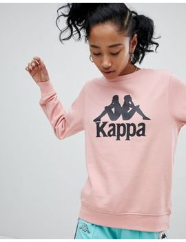 Kappa Oversized Sweatshirt With Large Front Logo by Kappa