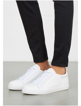 Bibi White Embroidered Leather Trainers by Sophia Webster