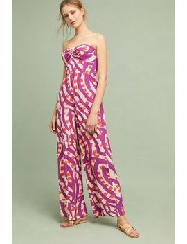 Shyra Printed Strapless Jumpsuit by Plenty By Tracy Reese