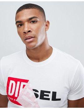 Diesel T Diego Qa Logo T Shirt White by Diesel