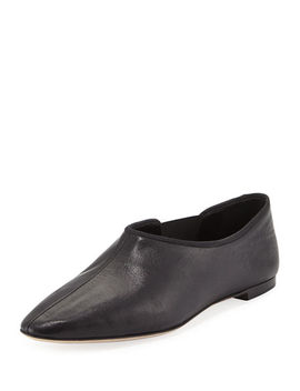 Cara Gored Leather Slip On by The Row
