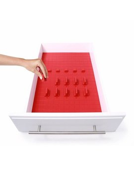 Drawer Decor Customizable Organizer, Drawer And Shelf Cabinet Liners, Non Slip And Easy Clean, Deluxe Starter Kit, 16 Piece   Red, This Unique Set.., By Kmn Home by Kmn Home