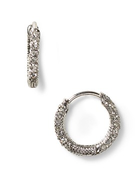 Pavé Huggie Hoop Earrings by Nadri