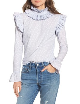 Ruffle Neck Blouse by Lost Ink