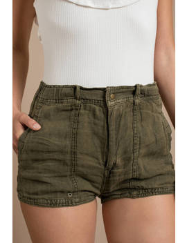 Free People Beacon Moss Utility Short by Tobi