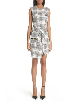 Tie Waist Tweed Dress by Alexander Wang