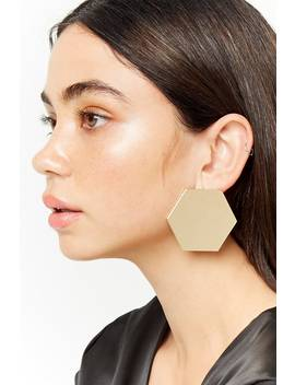 Oversize Geo Stud Earrings by Forever 21