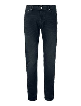 Dark Smokey Wash Gray Stretch Slim Jeans by Topman