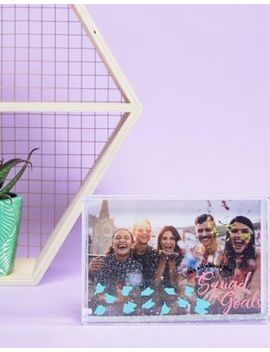 Fizz Squad Goals Liquid Glitter Frame by Fizz Creations