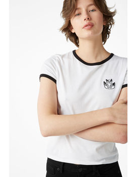 Cat Tee by Monki
