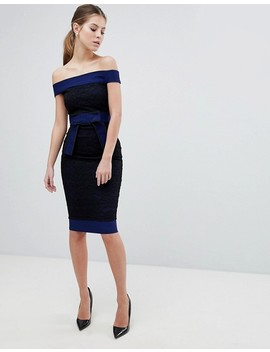 Vesper Lace Bardot Dress by Vesper