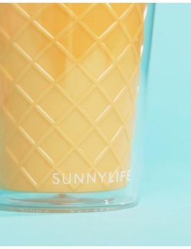 Sunnylife Ice Cream Drink Cup With Straw by Sunnylife