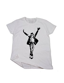 Michael Jackson's Smooth Criminal, Women White 100 Percents Cotton Short Sleeve Casual T Shirt S 2 Xl, D2410 by Strict Code