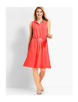 Mini Terry Drawstring Dress by Talbots