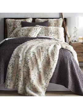 Faux Fur Leopard Print Blanket &Amp; Sham by Pier1 Imports