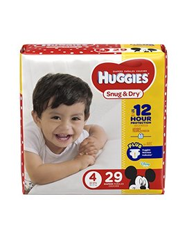 Huggies Snug & Dry Diapers, Size 4, 29 Count, Jumbo Pack (Packaging May Vary) by Huggies