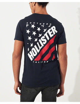 Americana Graphic Tee by Hollister