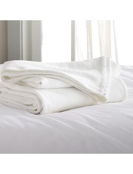 Siesta White King Blanket by Crate&Barrel