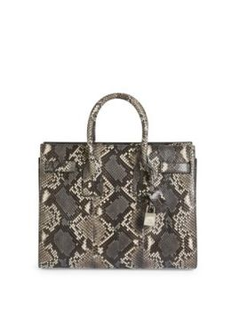 Small Sac De Jour Python Satchel by Saint Laurent