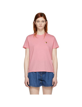 Ssense Exclusive Pink Fox Head Patch T Shirt by Maison KitsunÉ