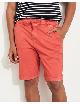 Twill Jogger Shorts by Hollister