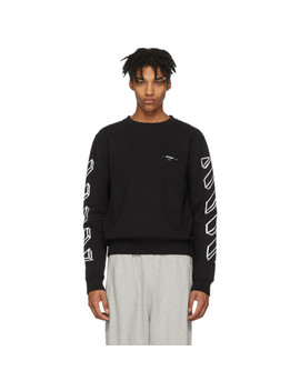 Black Diagonal Marker Arrows Sweatshirt by Off White