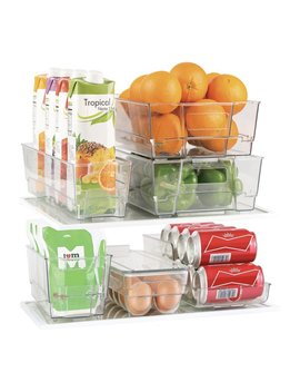 Rebrilliant 7 Piece Refrigerator And Freezer Stackable Fridge Bin Set & Reviews by Rebrilliant