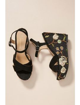 Saint G Embellished Wedge Sandals by Saint G