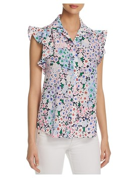 Daisy Print Ruffle Top by Kate Spade New York