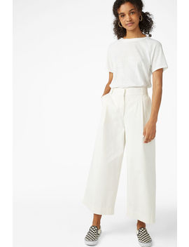 Wide Leg Cotton Trousers by Monki