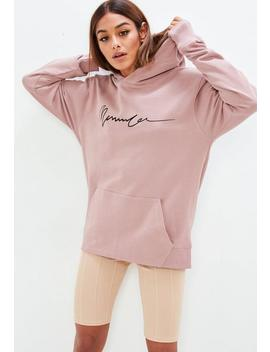 Mennace X Missguided Pink Overhead Signature Hoodie by Missguided