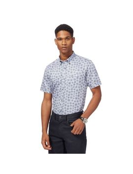 The Collection   Big And Tall Light Blue Dandelion Print Tailored Fit Shirt by The Collection