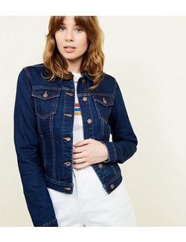 Tall– Blaue Jeansjacke Mit Rinse Waschung by New Look