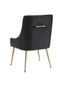 Beatrix Grey Velvet Side Chair by Tov Furniture