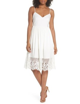 Salerno Lace Trim Jersey Dress by French Connection