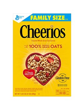 Cheerios Gluten Free Breakfast Cereal, 21 Oz, Family Size Cereal Box by Cheerios