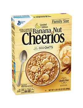 Banana Nut Cheerios Limited Edition Cereal 21 Oz Box by General Mills