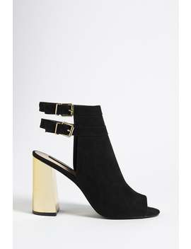 Metallic Heel Ankle Boots by Forever 21